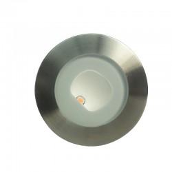 SPOT ENCASTRE ROND S316 9W LED ASYMETRIQUE 24V IP67