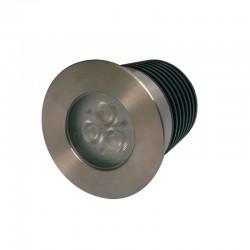 SPOT ENCASTRE ROND S316 3X1W LED 24V