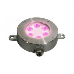 SPOT ENCASTRE INOX 6*3W POWER LED 24VDC