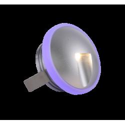 SPOT ENCASTRE ALUMINIUM ROND 2x1W LED IP20