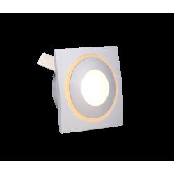 SPOT ENCASTRE ALUMINIUM CARRE 1x3W LED IP54