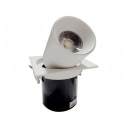 SPOT ALLUMINIUM ENCASTREE CARRE BLANC LED EPISTAR 15W DL
