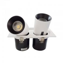 SPOT ALLUMINIUM ENCASTREE ROND BLANC LED EPISTAR 2*15W DL