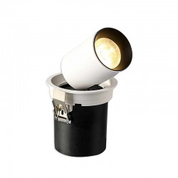 SPOT ALL ENC ROND NOIR LED EPISTAR 25W W W