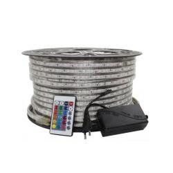 RUBAN LED SMD5050 60L 5M*10 24V 14.4W IP65 RGB
