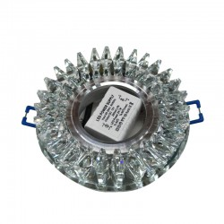 SPOT FIXE CRYSTAL CLAIR ROND SMD 3W+GU10