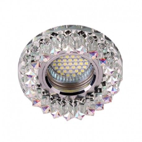 SPOT FIXE CRYSTAL CLAIR CARRE SMD 3W+GU10