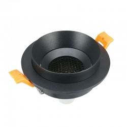 Spot Fixe Rond Noir GU5.3 IP20